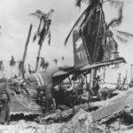 Marines inspect G3M of the 755 Kokutai on Tarawa