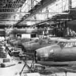 Mitsubishi G4M Betty bombers assembly line 1945