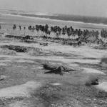 G4M Betty bombers of 3rd Chutai, 752 Kokutai under attack. Roi Kwajalein February 1944