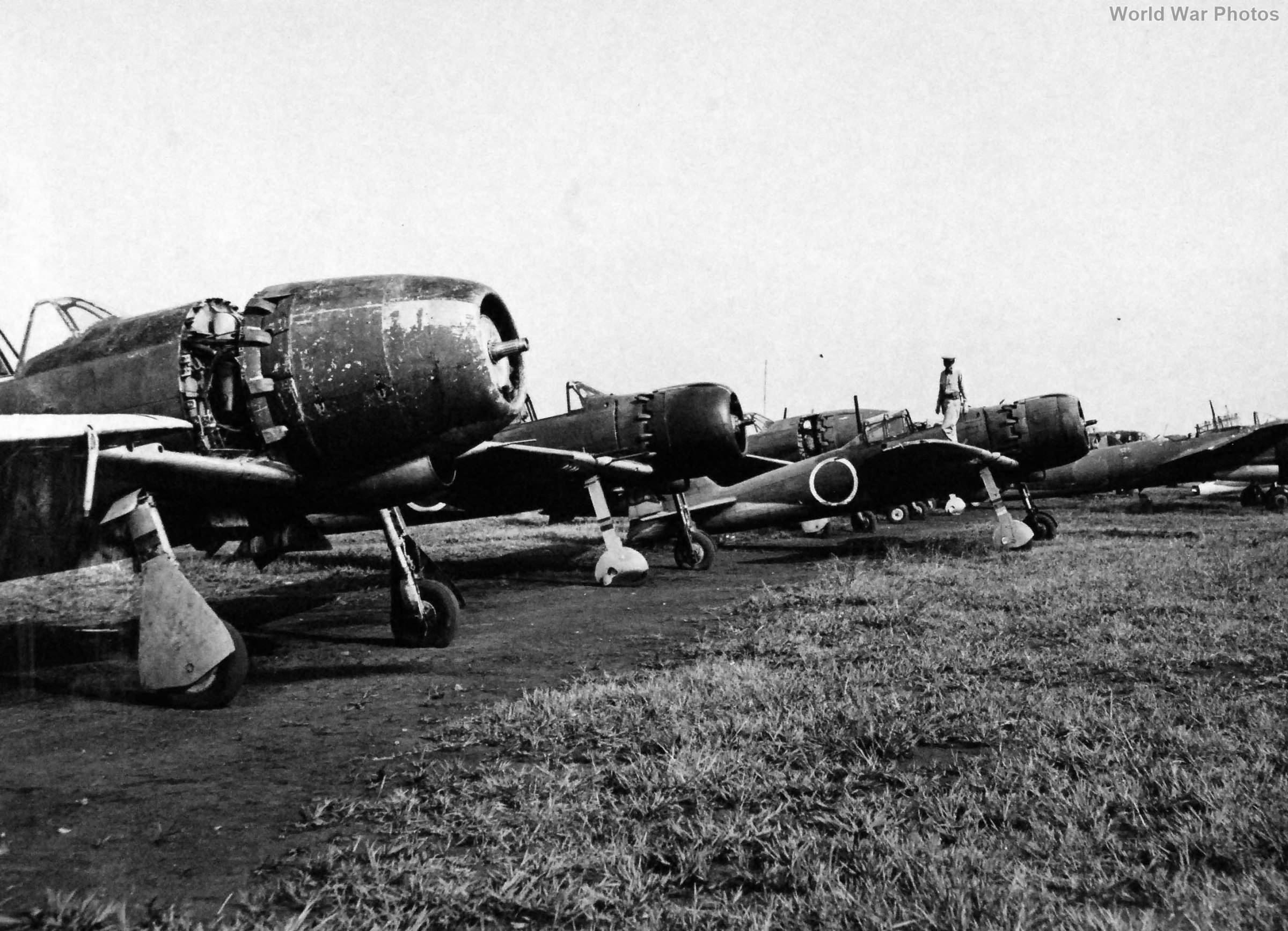 Captured J2M and A6M September 21, 1945