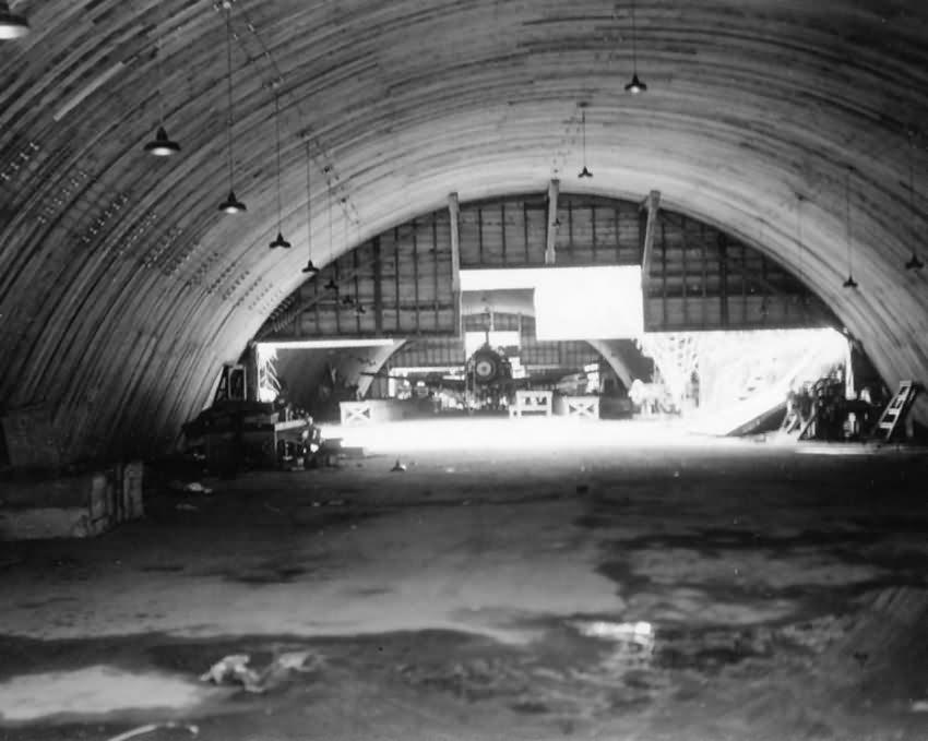 J2M Raiden Jack in hangar at Atsugi airbase Japan 1945