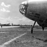 Close up of nose section of Ki-21 at Shanghai 1945