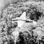 "Mitsubishi Ki-21 ""Sally"" of the 14 Sentai in flight over jungle"