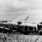 """Wreckage of Ki-21-II """"Sally"""" Philippines in the spring of 1945"""
