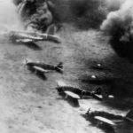 Ki-21, Ki-61 and Ki-43 under attack at Wewak 1943