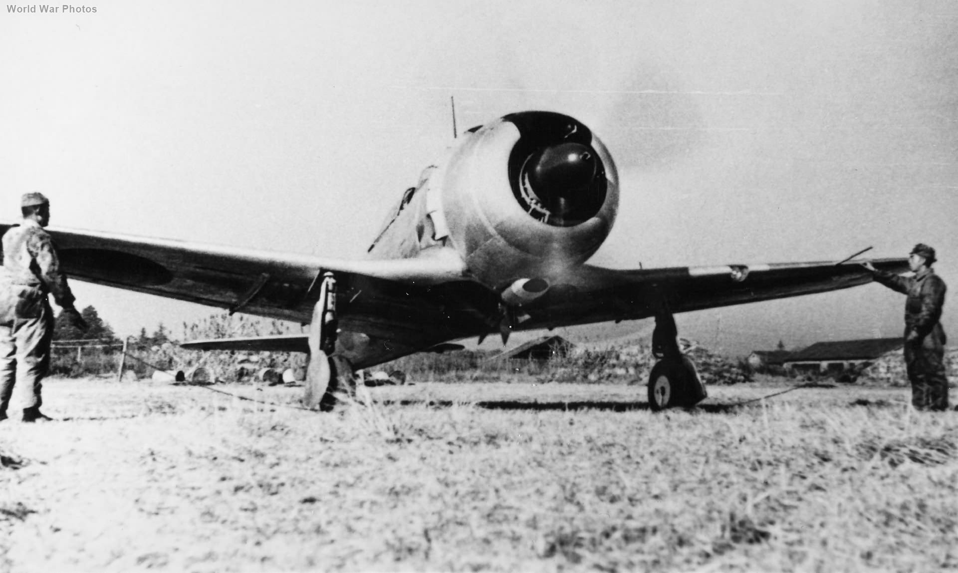 Ki-44 is prepared for takeoff