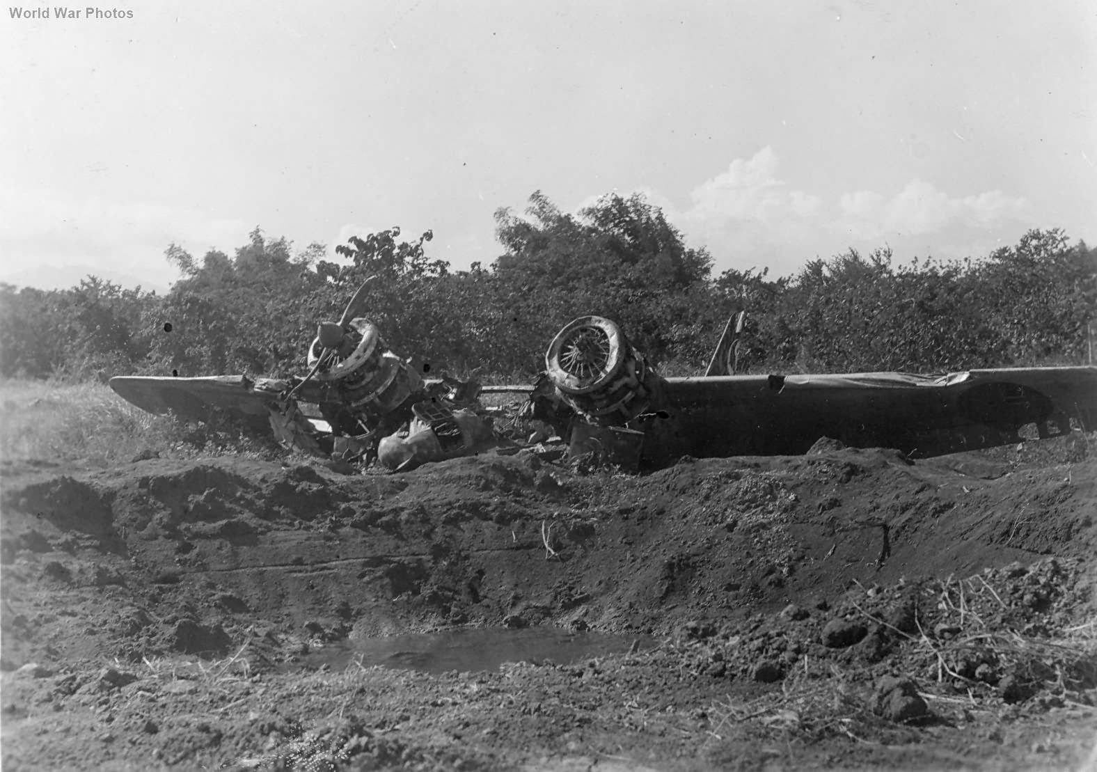 Wreck of Ki-54