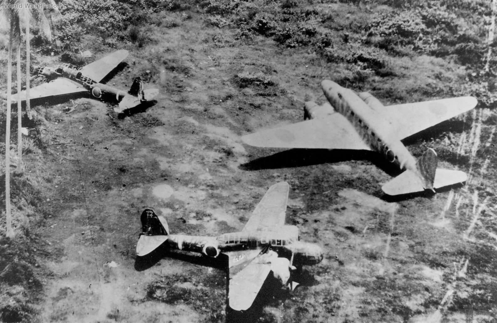 Japanese aircraft wrecks at Hollandia Ki-48 Ki-57 1944