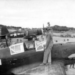 Captured Kawasaki Ki-61 Hien and F4U Corsair 419 Okinawa 1945