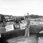 Captured Kawasaki Ki-61 Hien and F4U Corsair 419 Okinawa 1945
