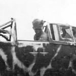 Kawasaki Ki-61 Hien GI in cockpit