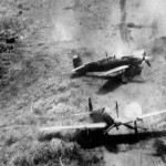 Ki-61 Hien (Tony) of the 78th Sentai under attack Wewak New Guinea 1944