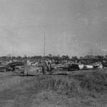 Ki 84 Hayate Fighter Wreckage Captured Chofu Air Base