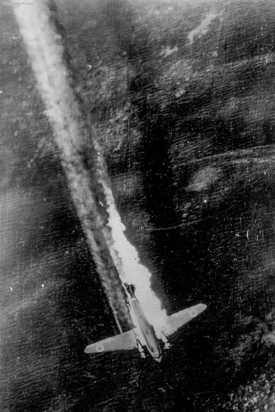 Japanese L2D on Fire 1945