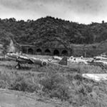 P1Y Ginga bomber wreck at Tatayama September 1945