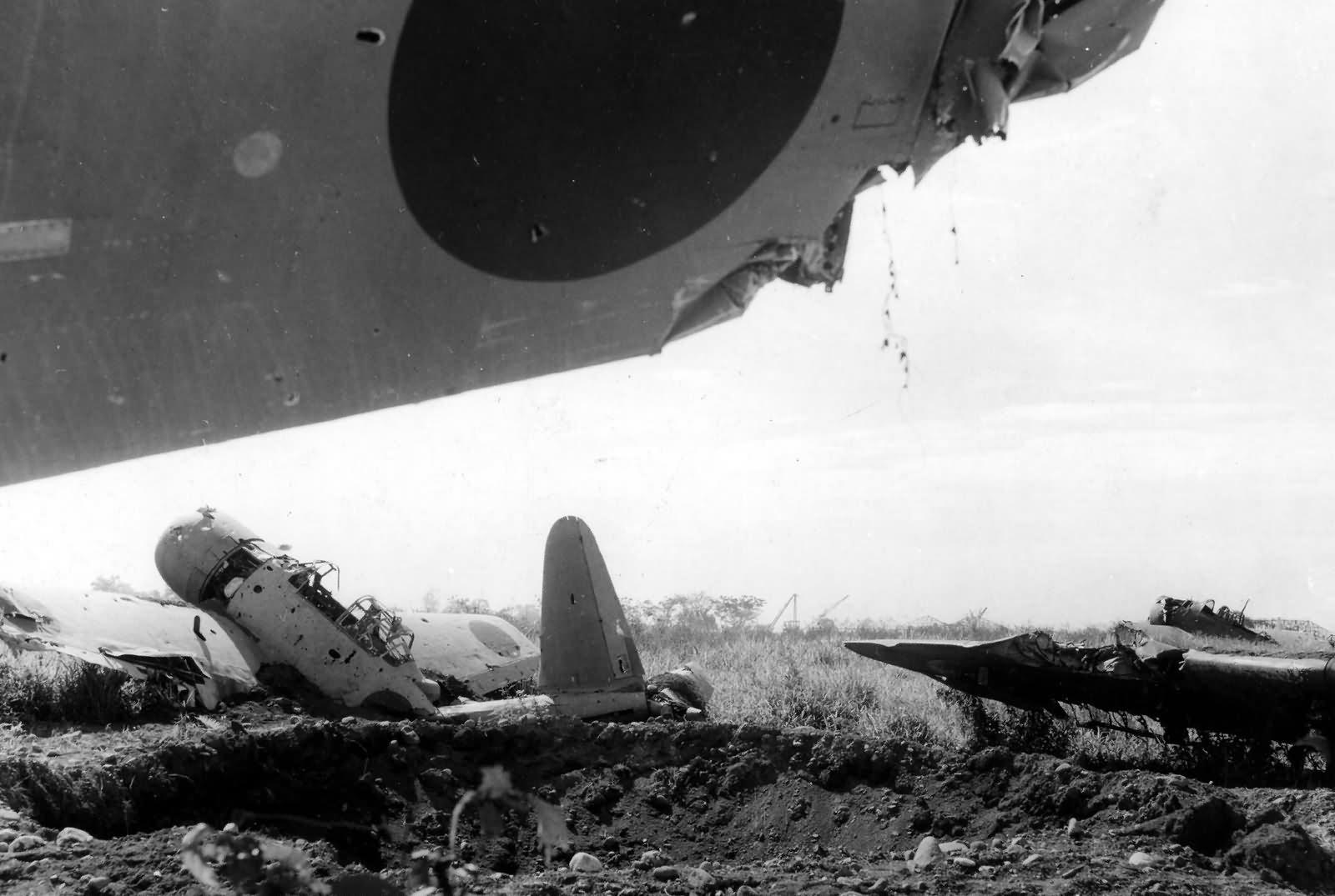 Japanese Aircraft Wrecks at Lae New Guinea 1943