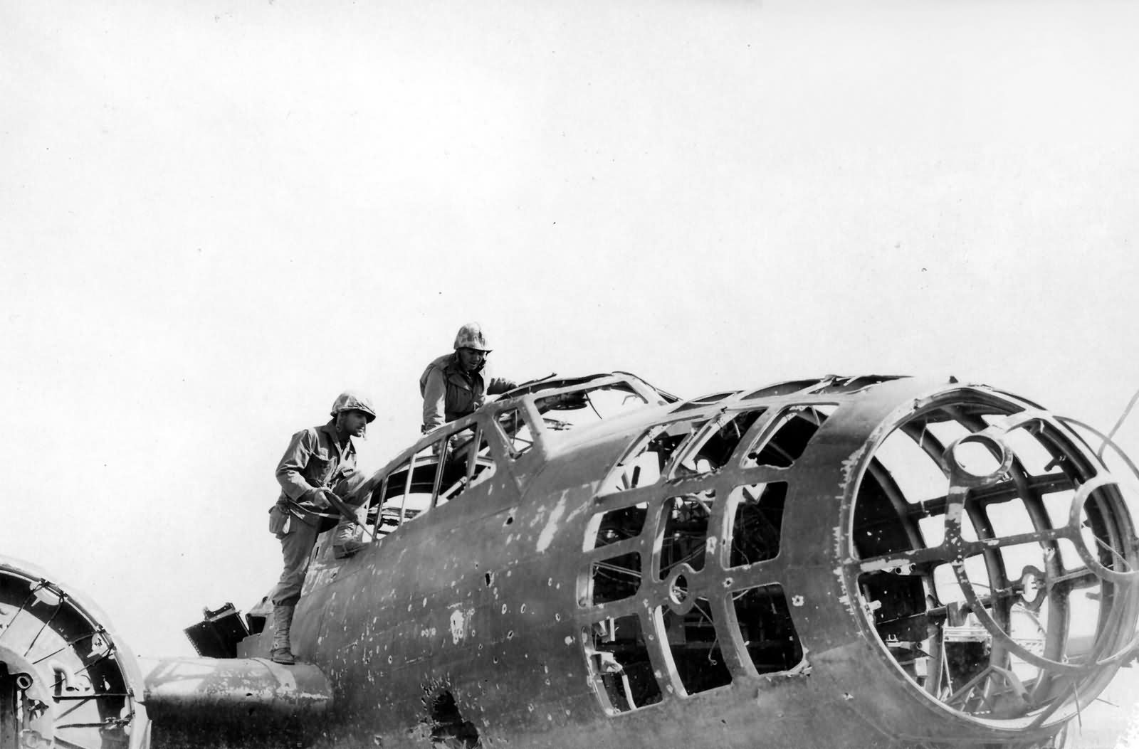 Japanese Aircraft Wrecks on Iwo Jima 3