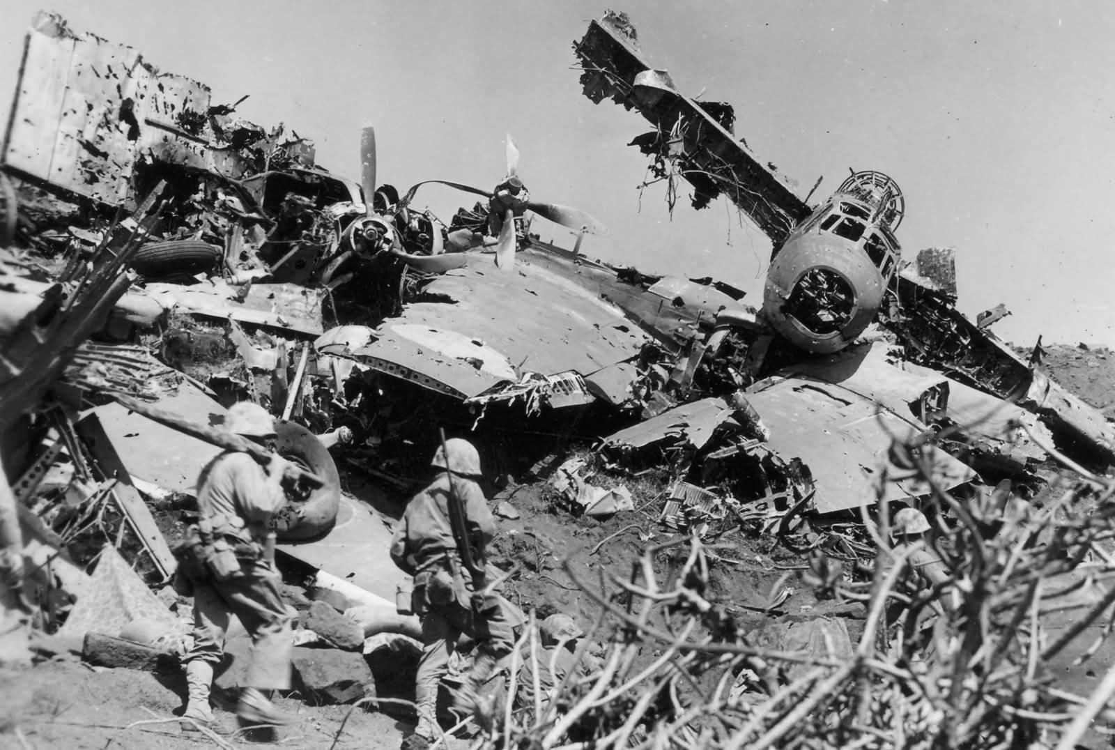 Japanese Aircraft Wrecks on Iwo Jima 4