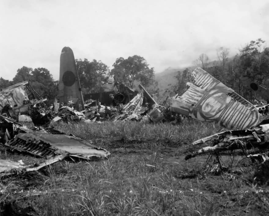 Japanese Fighter Aircraft Wreckage PTO