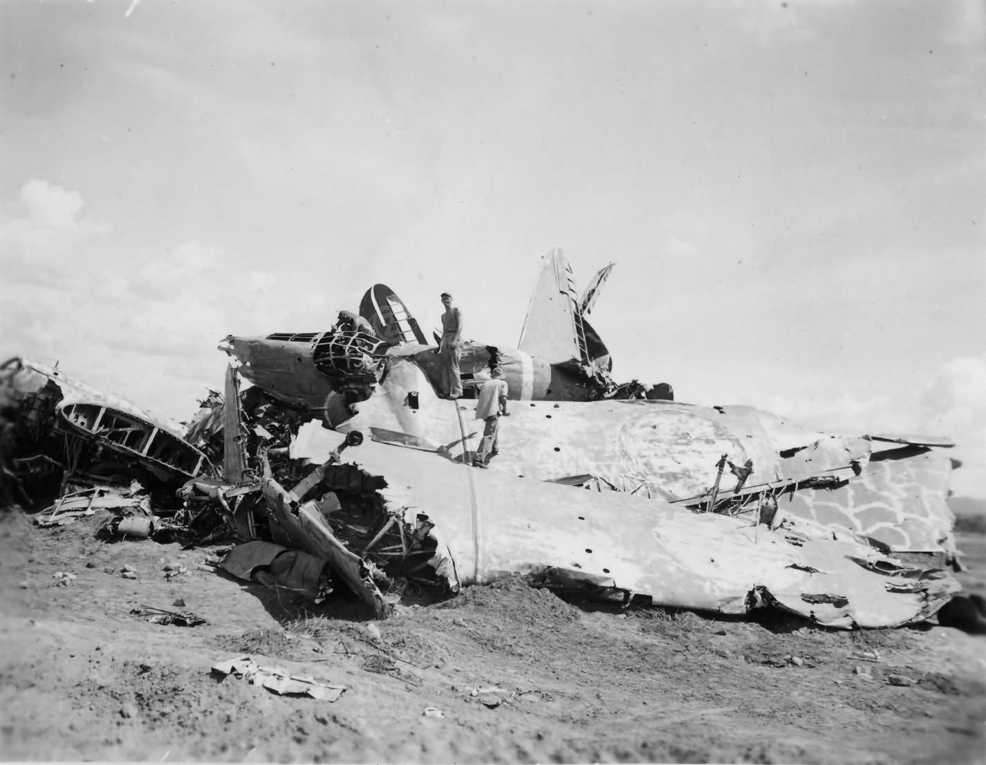 Japanese Plane Wreckage Pacific