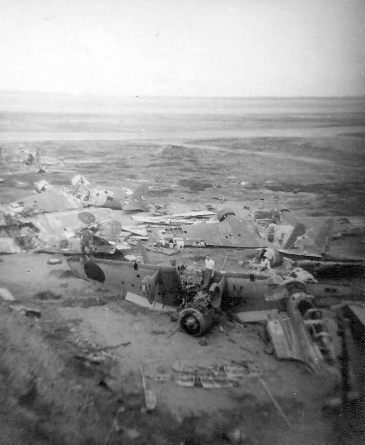Wrecked Japanese Aircraft