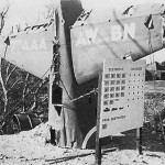 Shot Down Japanese Fighter Plane Used as Scoreboard Ie Shima