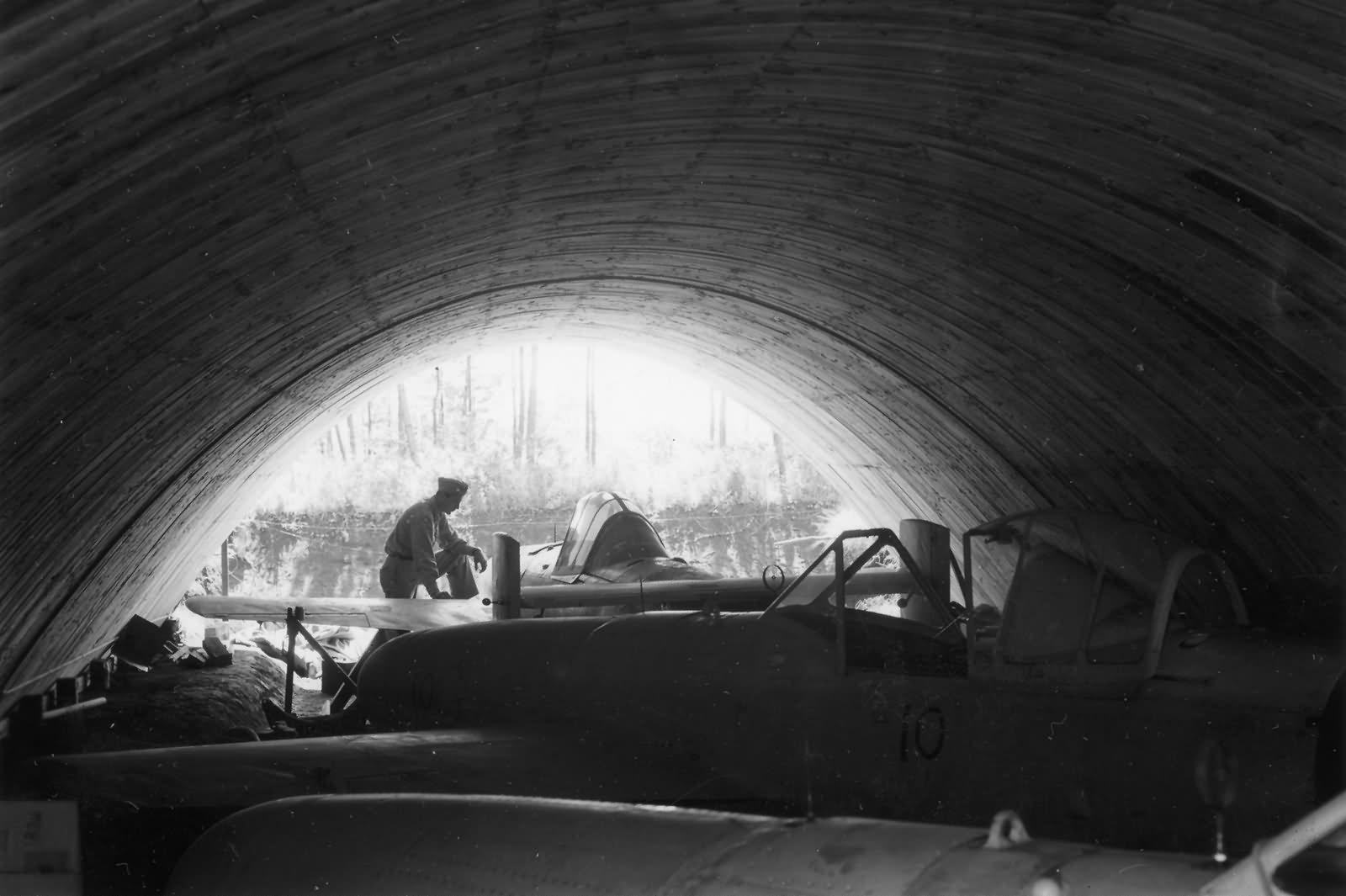 Yokosuka MXY7 Ohka rocket bombs found in underground hangar Atsugi 1945