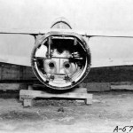 Rear View Of The Ohka Plane Showing Cone Where 3 Rockets Are Placed