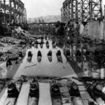 113 submarines Type D in a bombed out dry dock in Kure Japan
