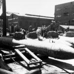 Kairyu Type midget submarines at the Yokosuka Naval Base September 1945 2