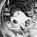 Kairyū-class submarine midget submarine nr 2000 View inside the tail section 1945