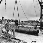 Salvaged Japanese Type A midget submarine – Guadalcanal