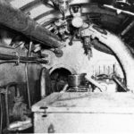 Midget submarine Type D, engine room looking forward 1945