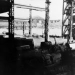 Type D in an assembly shed at the Mitsubishi shipyard Nagasaki Sept 1945 2