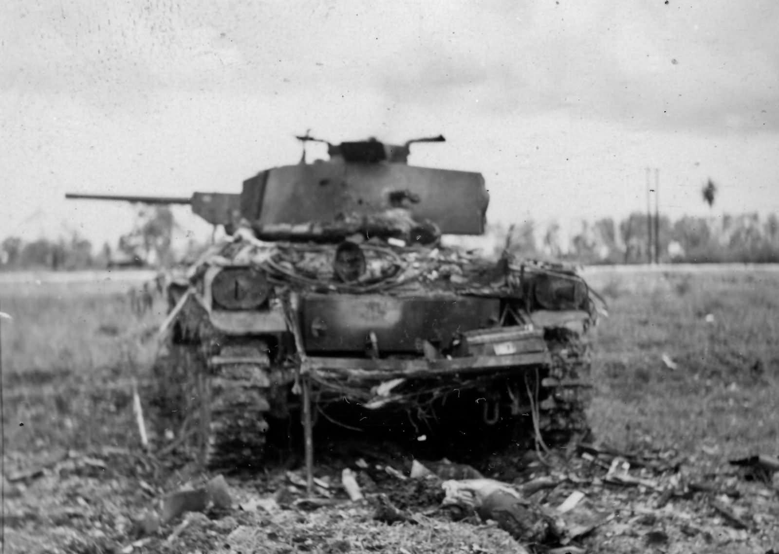 Chi Ha Medium Tank Saipan Rear View