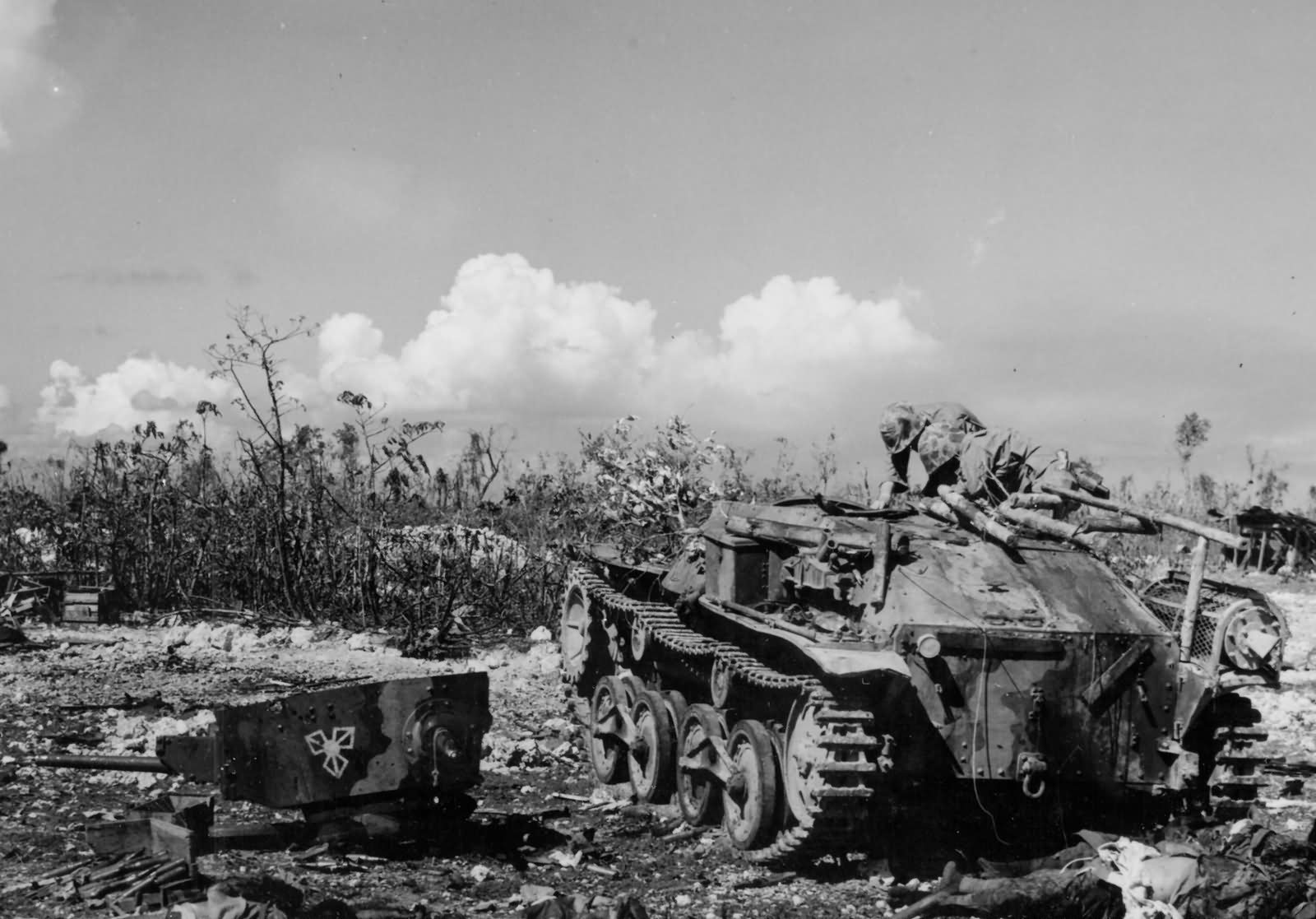 Japanese 14th Infantry Division Type 95 Ha Go Light Tank Peleliu September 1944