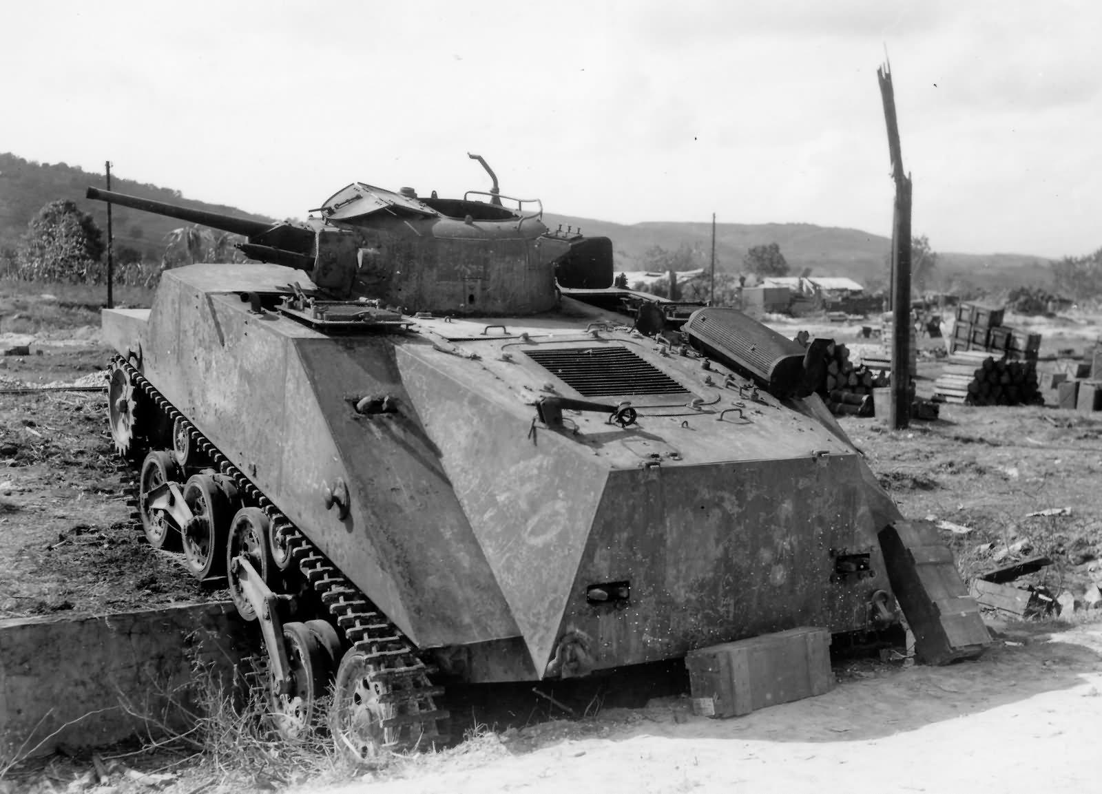 Japanese 1st Yokosuka SNLF Type 2 Ka Mi Amphibious Tank on Saipan
