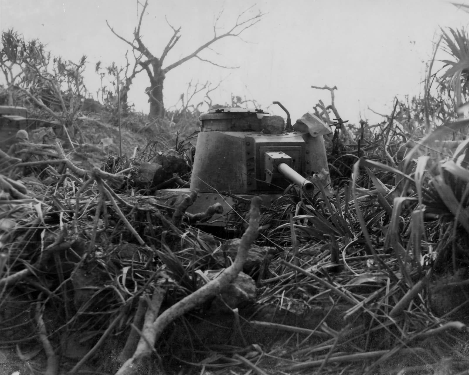 Japanese 26th Tank Regiment Type 97 Shinhoto Chi Ha on Iwo Jima 1945