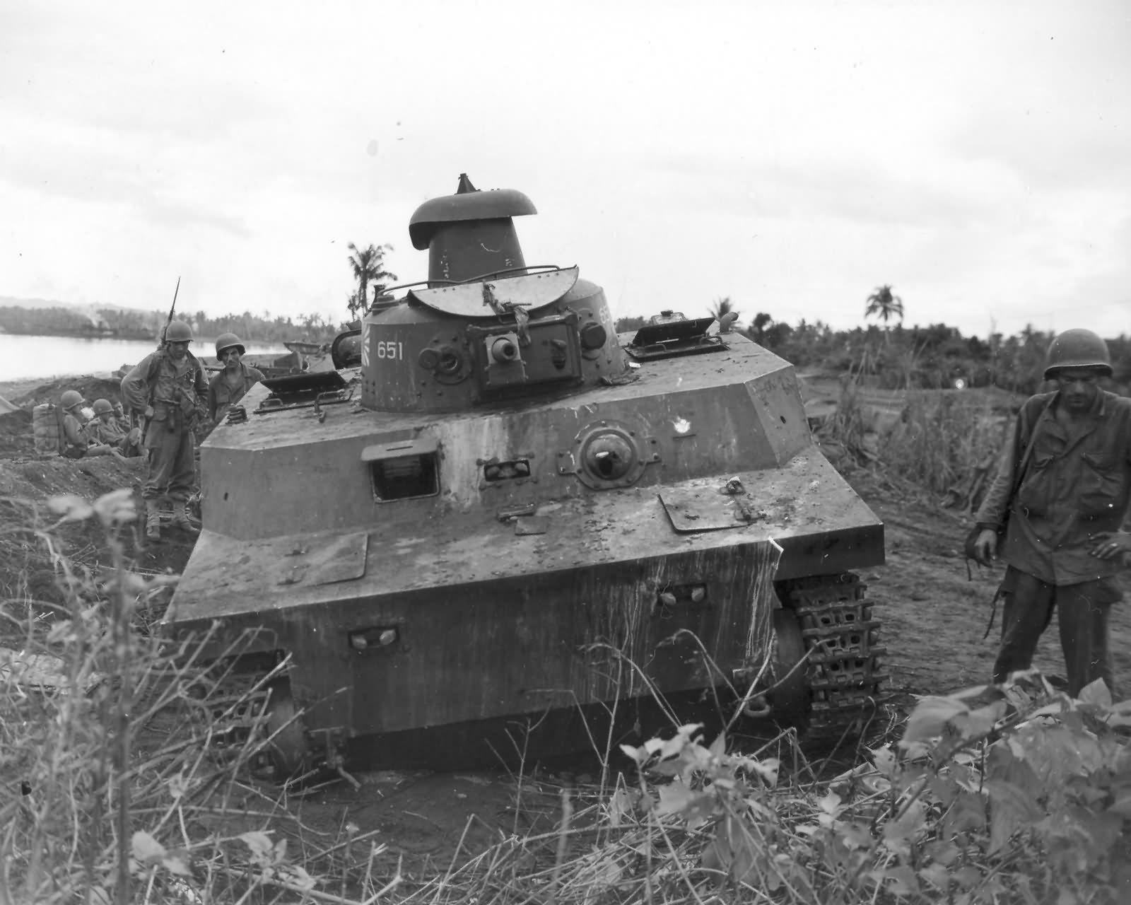 Japanese Ka Mi Amphibous Tank Ormoc Leyte 1945