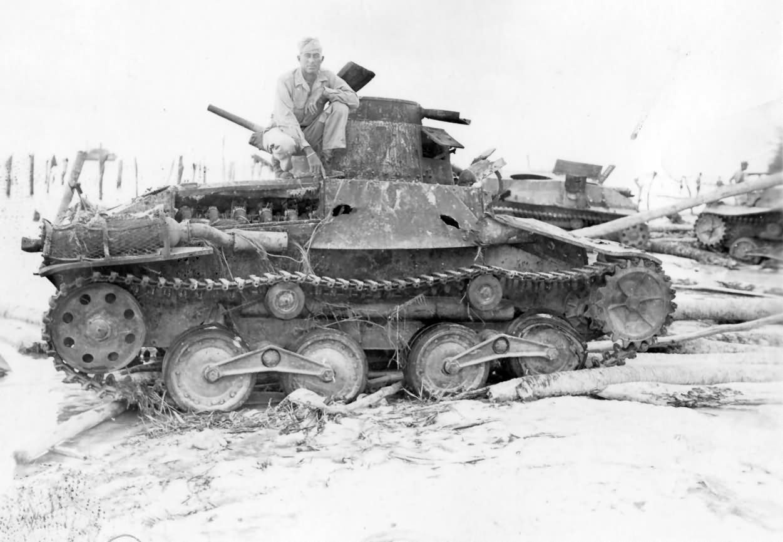 Japanese Type 95 Ha Go tank Biak 1944