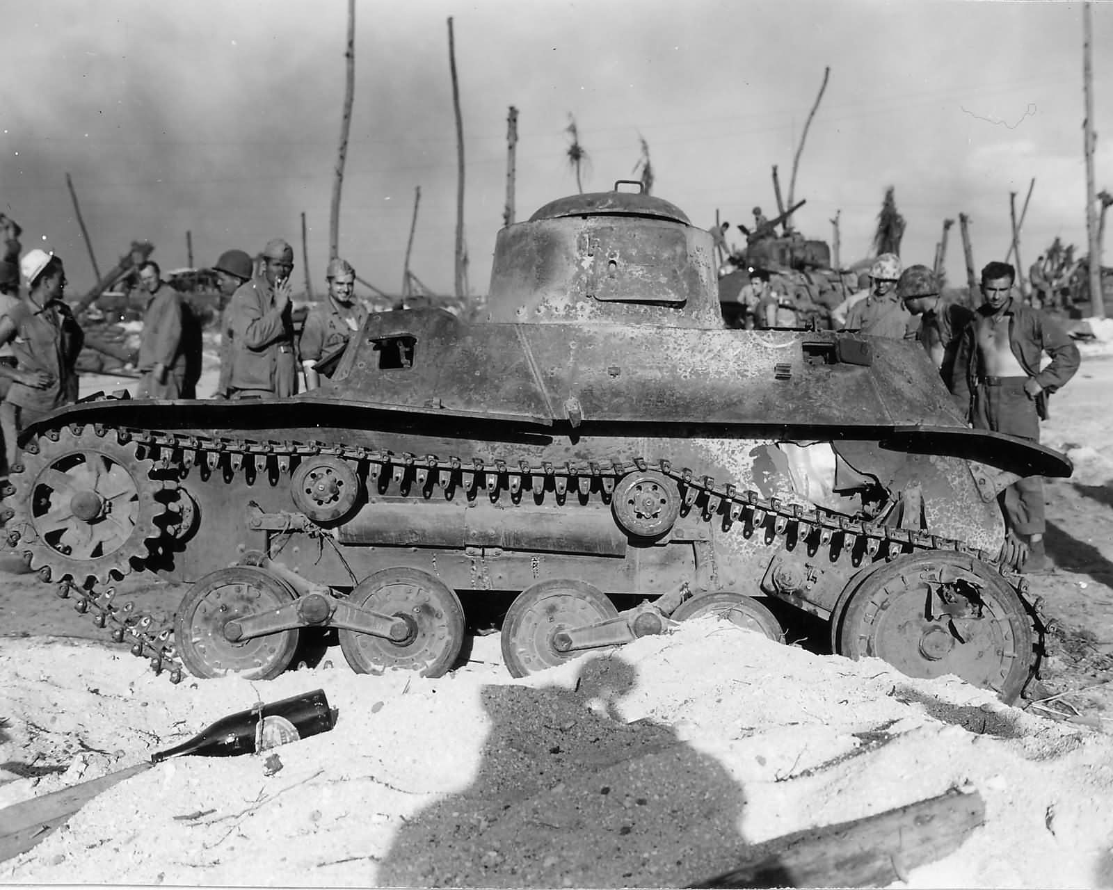 Japanese Type 95 Ha Go light tank in Marshall Islands 1944