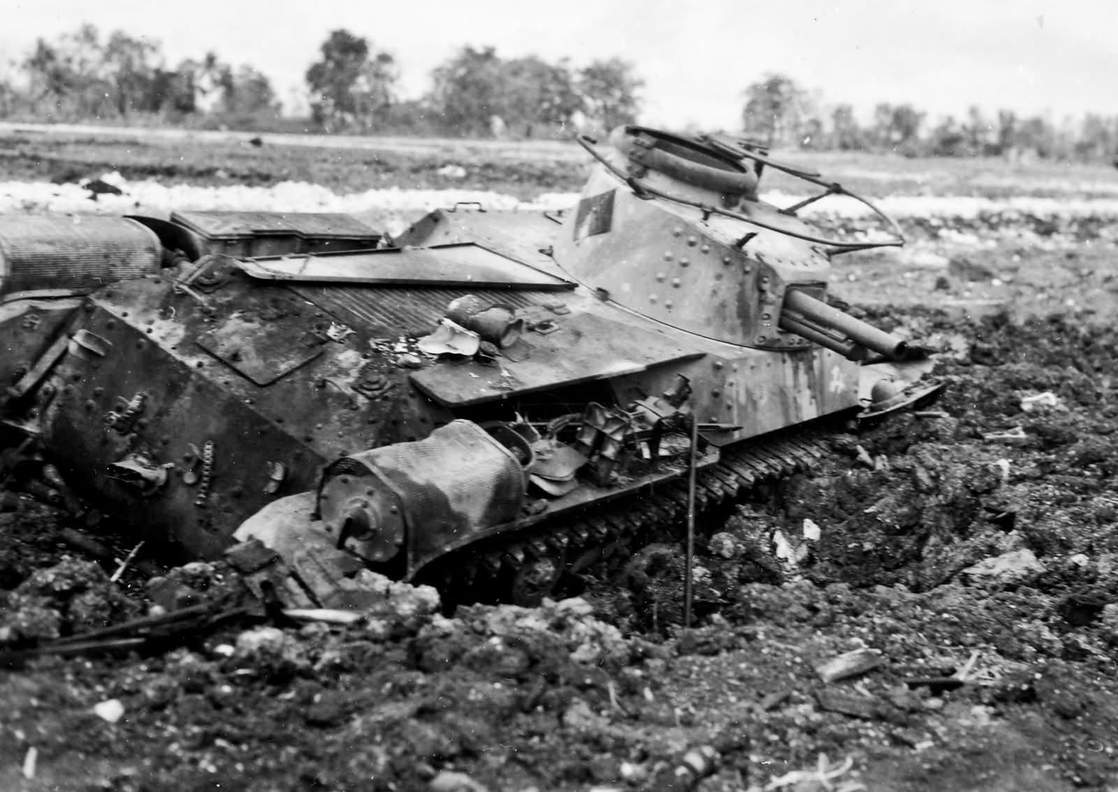 Japanese Type 97 Chi Ha from 9th Tank Regiment Saipan 1944