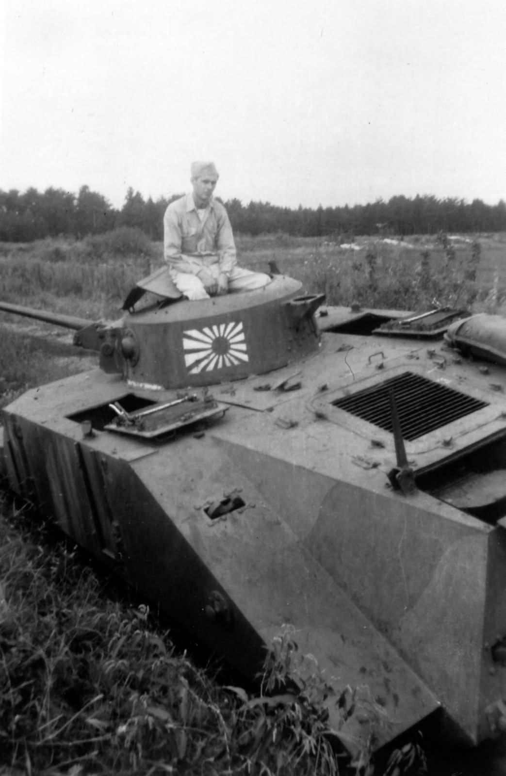 Ka Mi amphibious tank Leyte Philippines 1944