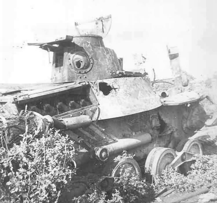 Knocked Out Japanese Type 95 Ha-Go tank