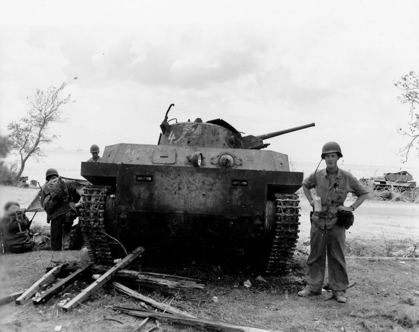 Type 2 Ka Mi amphibious tank from 1st Yokosuka SNLF on Saipan 1944