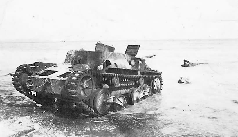 Type 95 Ha Go tank on Beach
