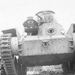 Front View of Captured Japanese tank Type 95 Ha-Go Tank