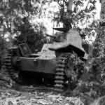 Japanese tank Ha-Go on Garapan June 1944