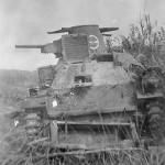 Japanese Type 95 Ha-Go tank rear