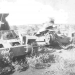Knocked Out Japanese Type 95 Ha-Go tanks
